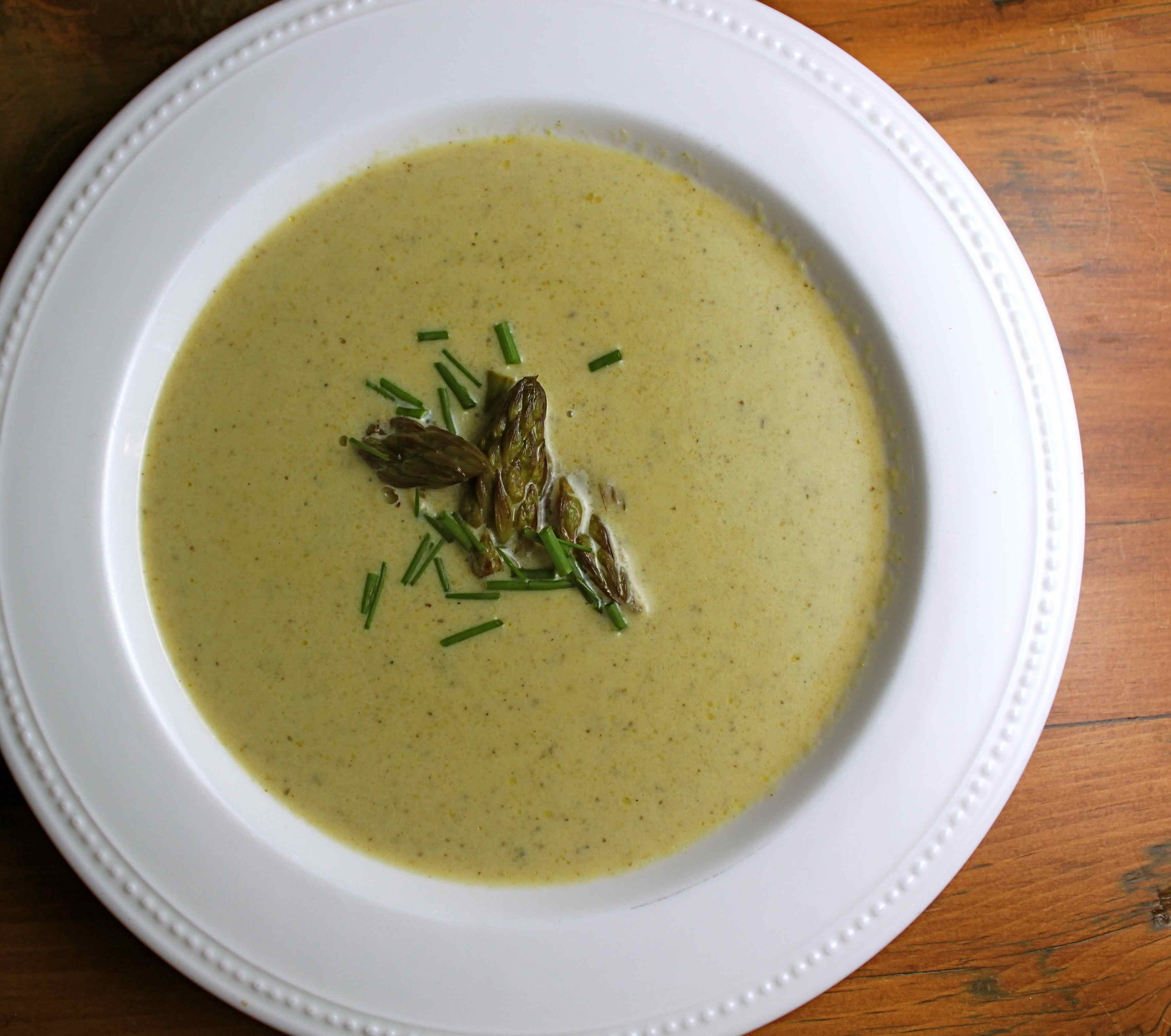 Cream of asparagus soup   Meats, Roots and Leaves