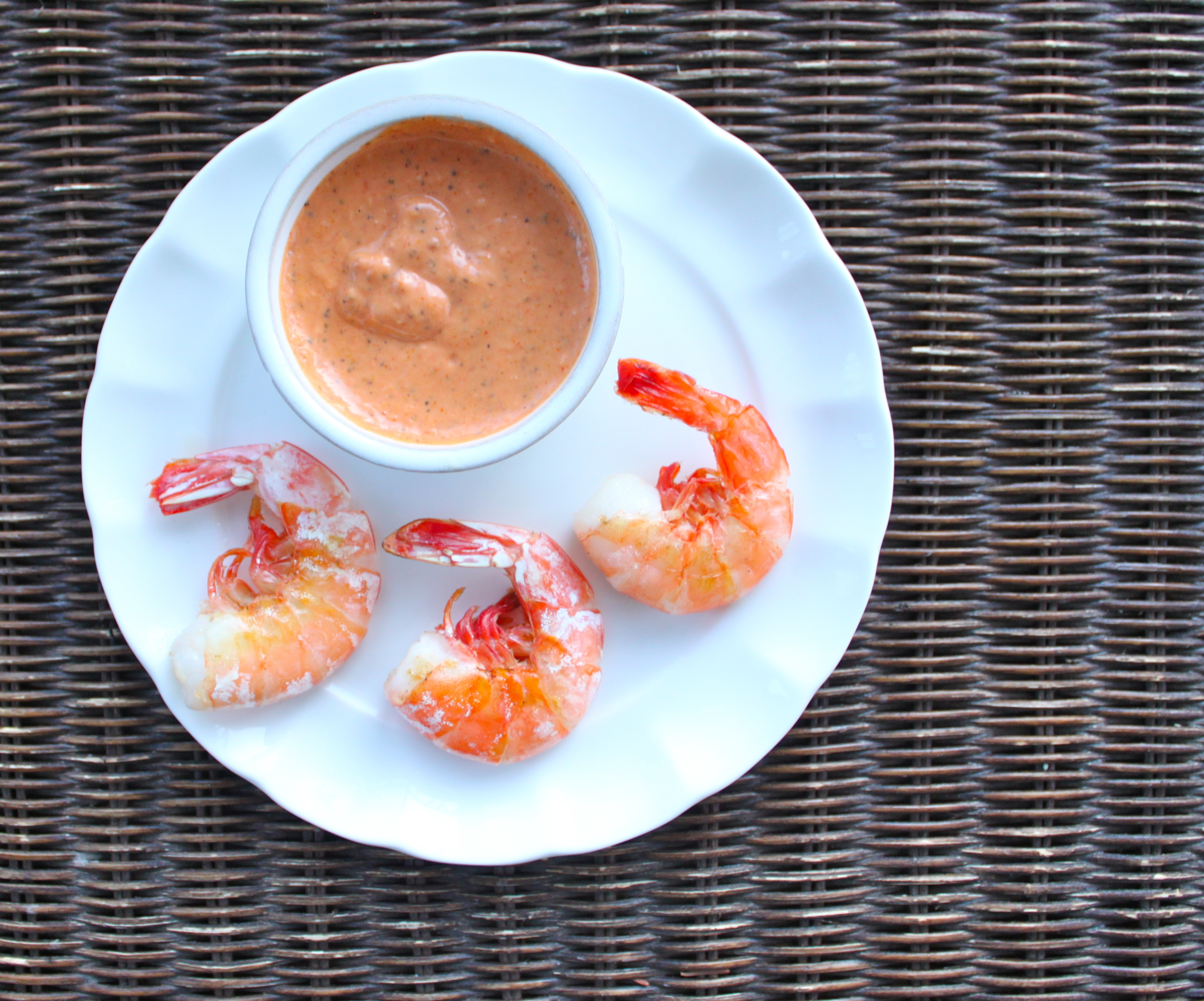 Shrimp with comeback sauce
